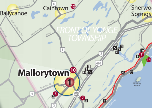 Map of Mallorytown